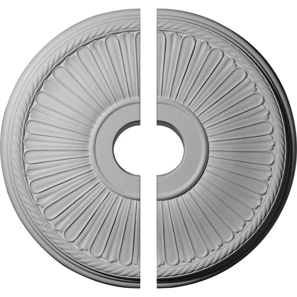 Ekena Millwork 20 1/8 In. O.d. X 3 7/8 In. I.d. X 1 7/8 In. P Berkshire Ceiling Medallion (2 Piece)