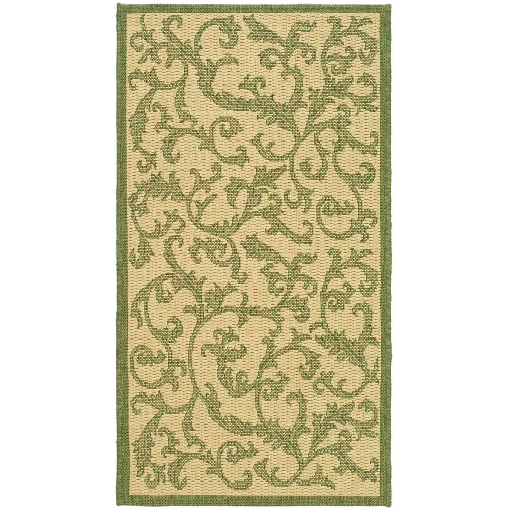 Courtyard Natural/Olive (Natural/Green) 2 ft. 7 in. x 5 ft. Indoor/Outdoor Area Rug Sale $37.96 SKU: 204829503 ID: CY2653-1E01-3 UPC: 683726903956 :