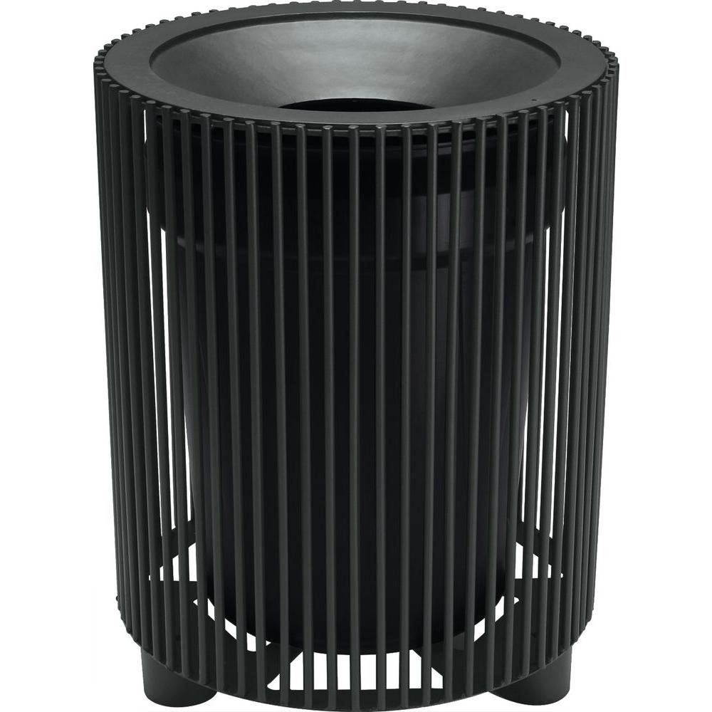 Tradewinds Grand Isle 32 Gal. Textured Black Contract Trash Can with