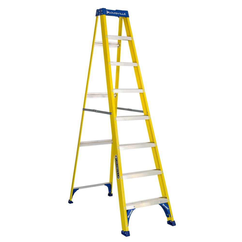 8 ft. Fiberglass Step Ladder with 250 lbs. Load Capacity Type