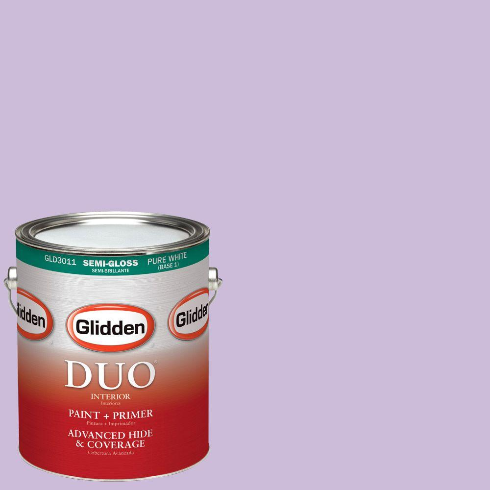 Glidden DUO 1-gal. #HDGV55U Soft Violet Semi-Gloss Latex Interior Paint with