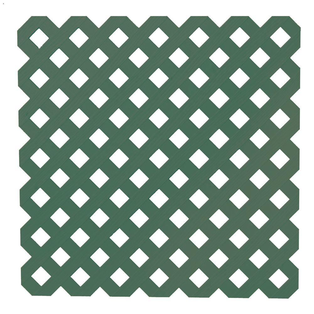 0.2 in. x 48 in. x 8 ft. Woodland Green Privacy
