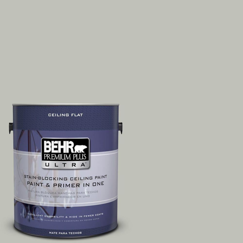BEHR Premium Plus Ultra 1-Gal. No.UL210-8 Ceiling Tinted to Silver Sage Interior Paint