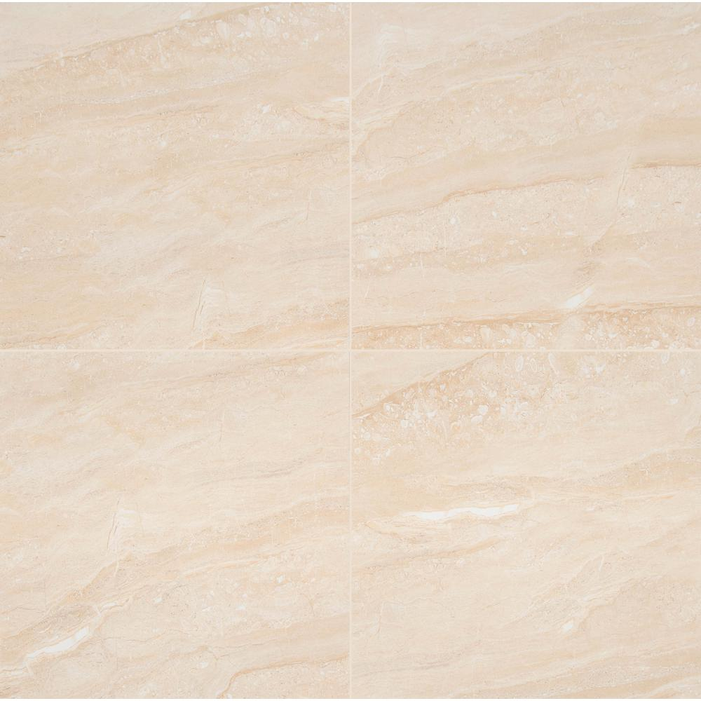 Aria Oro 24 in. x 24 in. Polished Porcelain Floor and