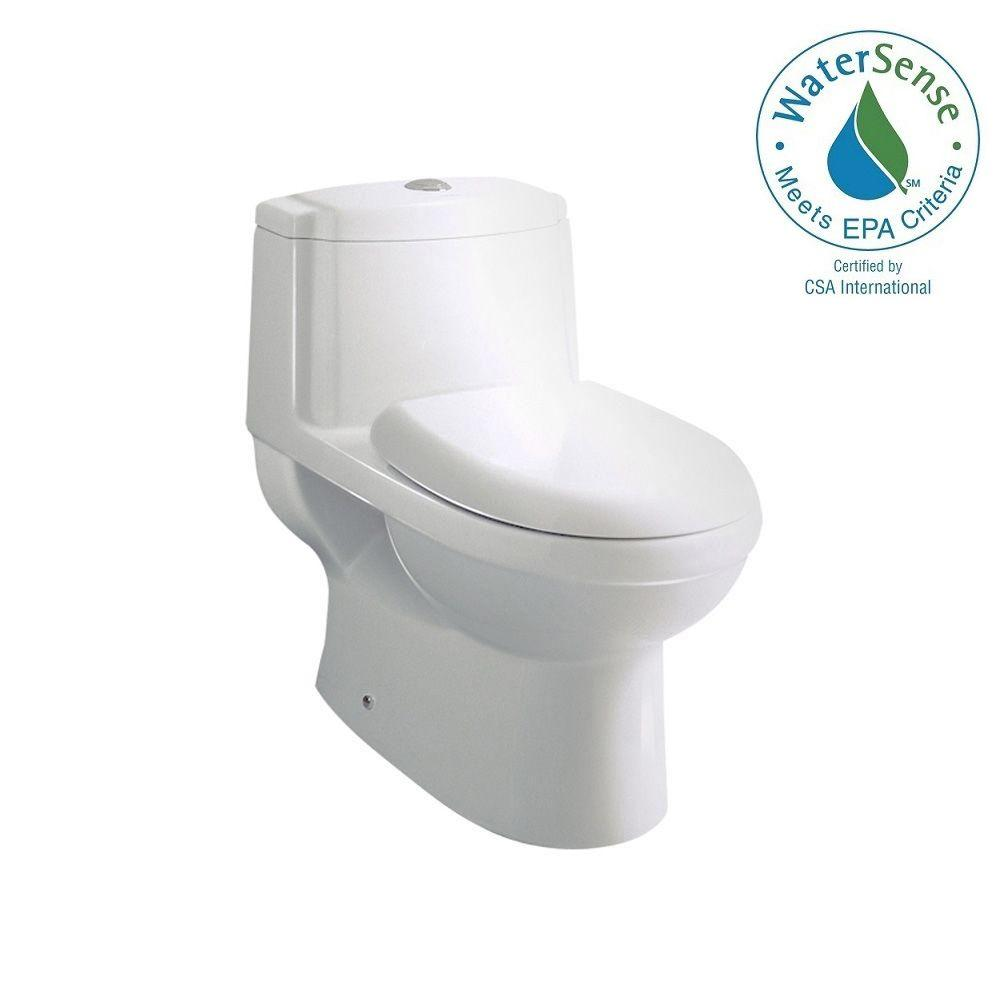 Ariel Platinum Contemporary 1-piece 1.6 GPF Elongated Toilet in White-TB222M -