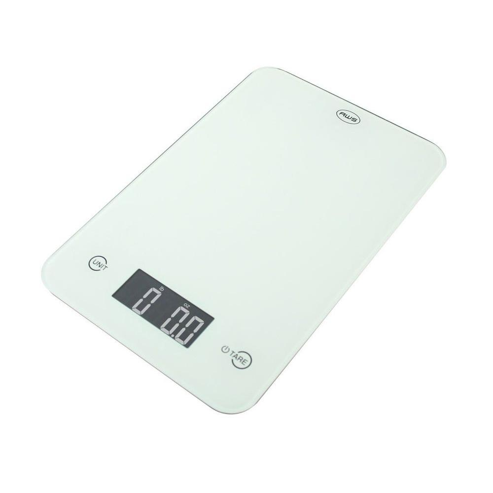 American Weigh Thin Digital Kitchen Scale in White