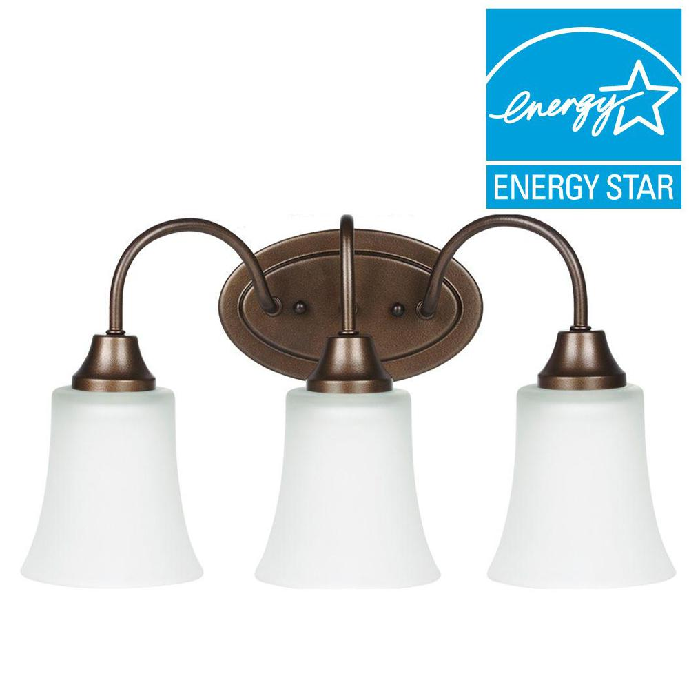 Holman 3-Light Bell Metal Bronze Vanity Light