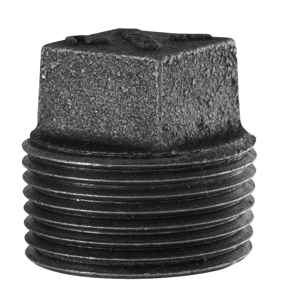 LDR Industries 1/4 in. Black Iron MPT Plug-310 P-14 - The