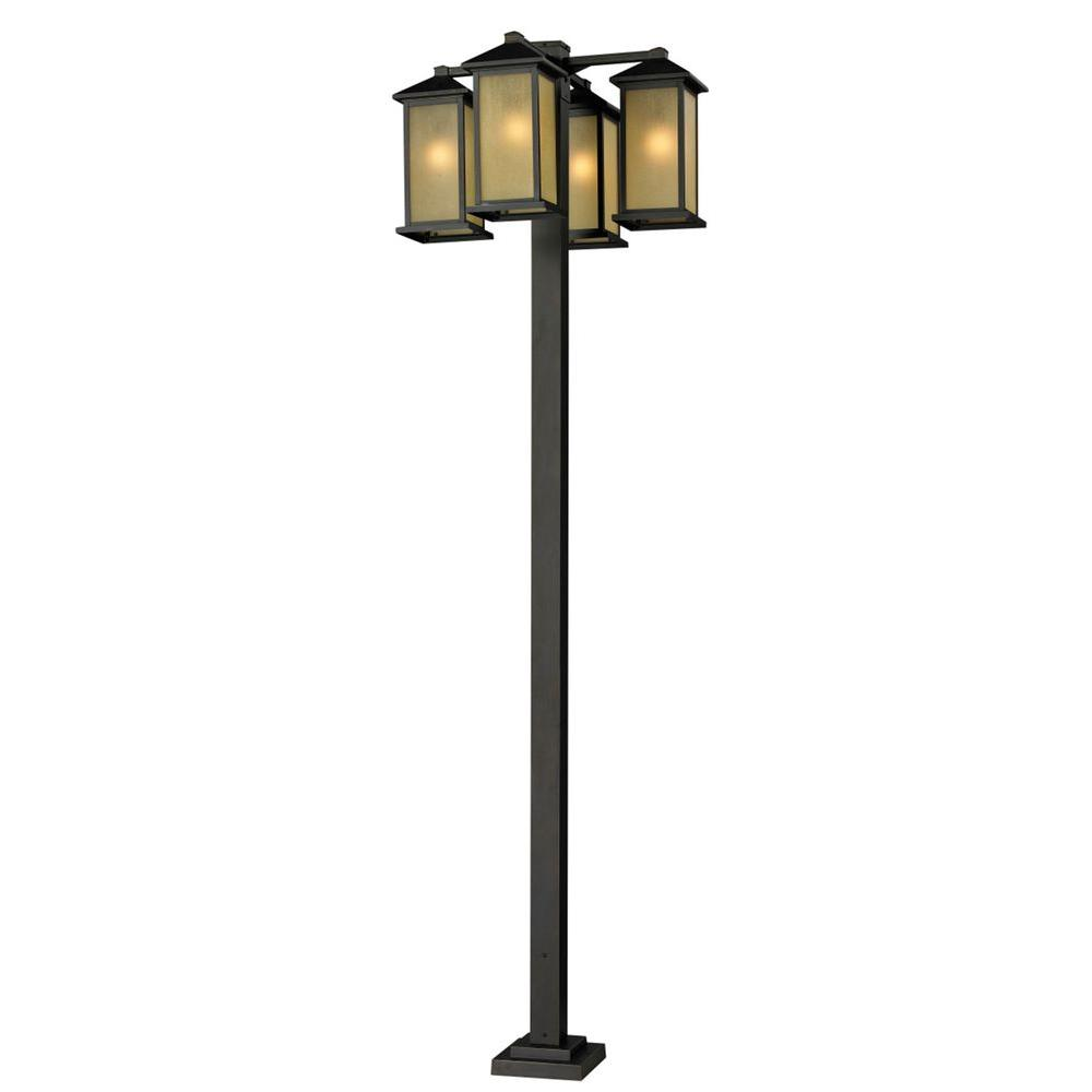 Filament Design Lawrence 4-Light Outdoor Oil-Rubbed Bronze Incandescent Post Light