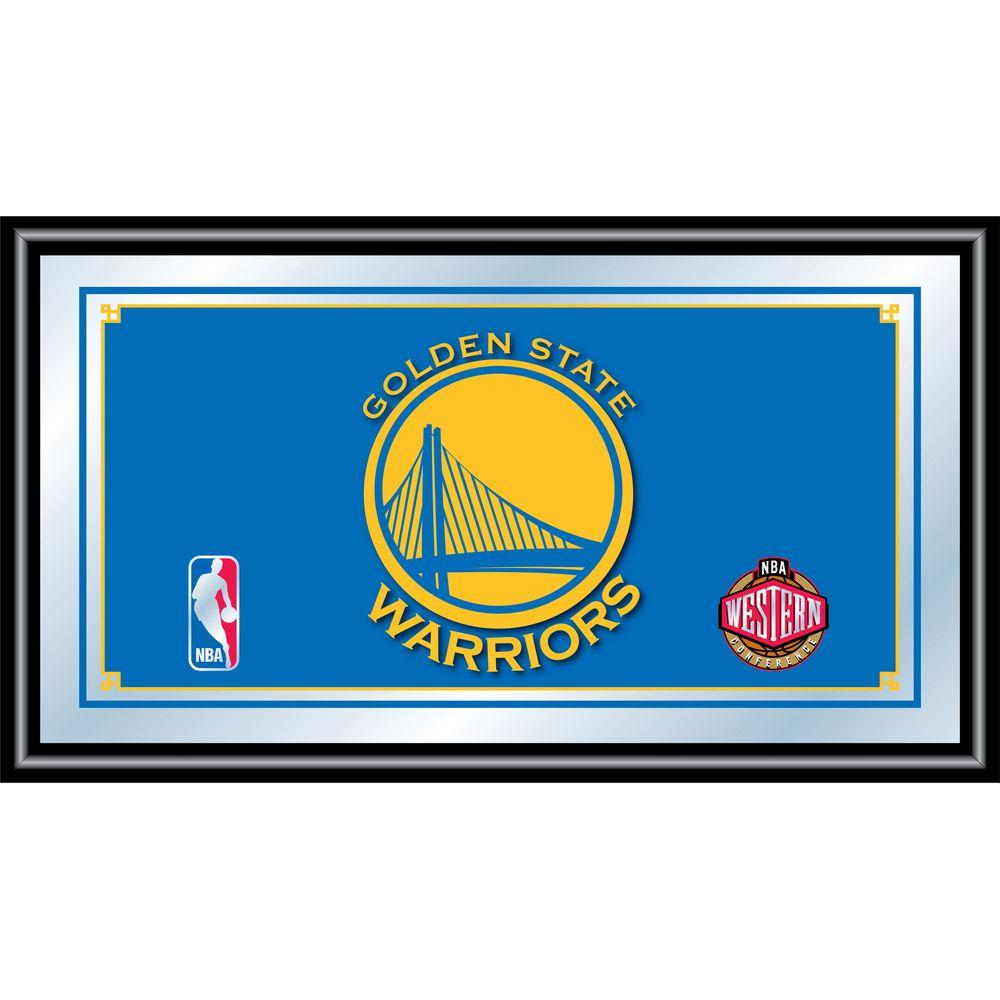 Golden State Warriors NBA 15 in. x 26 in. Black Wood