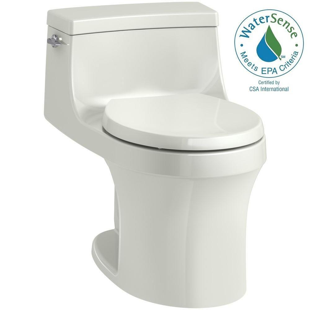 San Souci 1-piece 1.28 GPF Single Flush Round Toilet in Dune