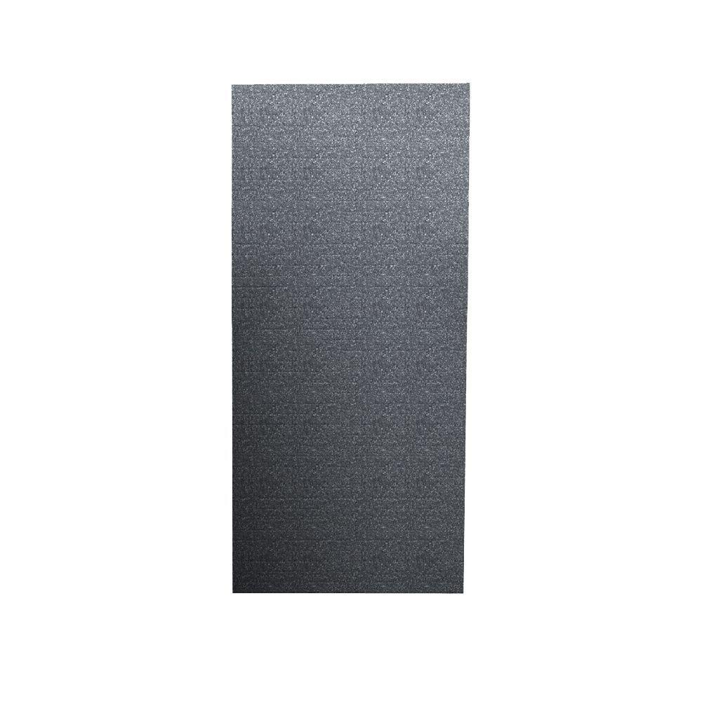 Swanstone Geometric 1/4 in. x 36 in. x 96 in. One Piece Easy Up Adhesive Shower Wall in Night Sky-DISCONTINUED