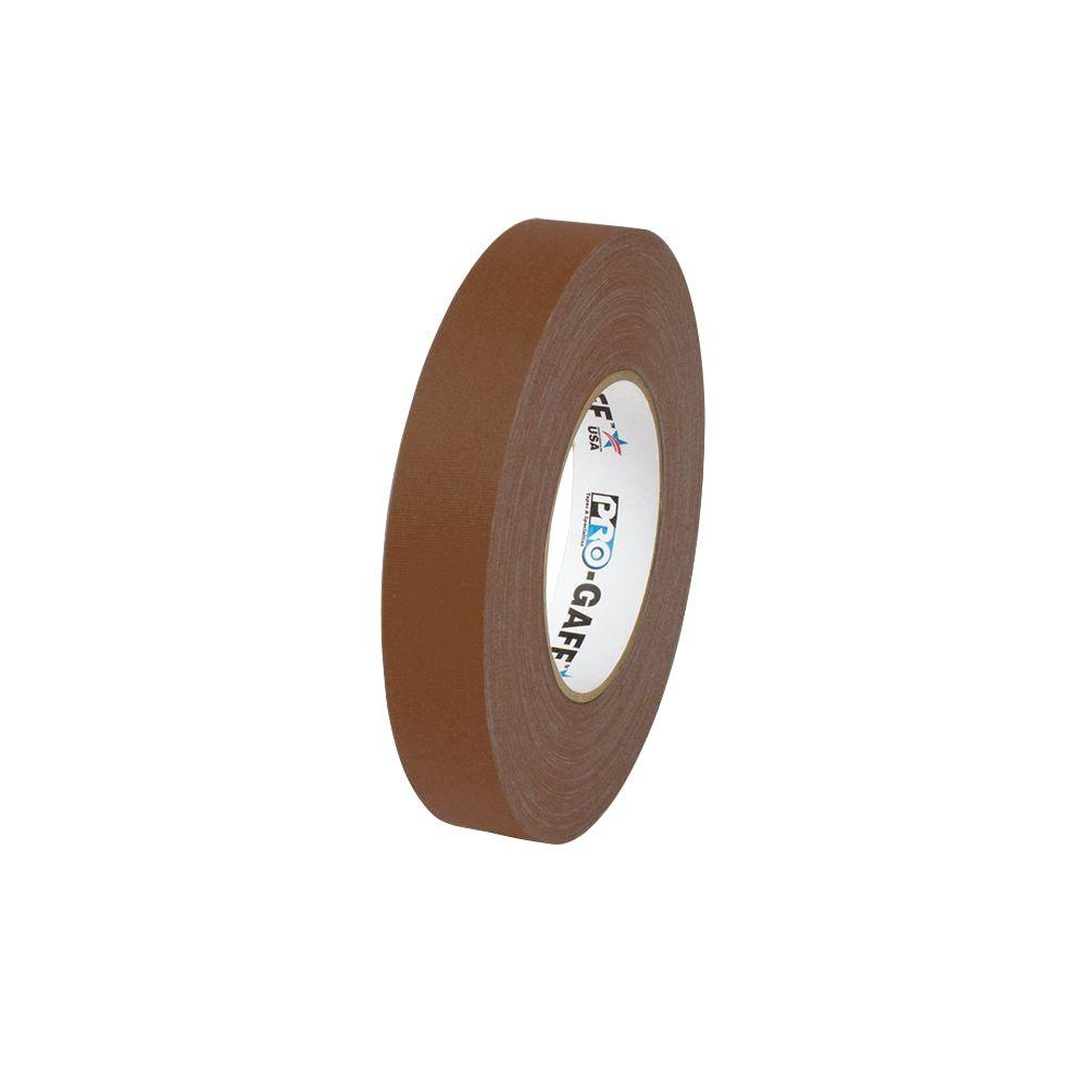 1 in. x 55 yds. Brown Gaffer Industrial Vinyl Cloth Tape