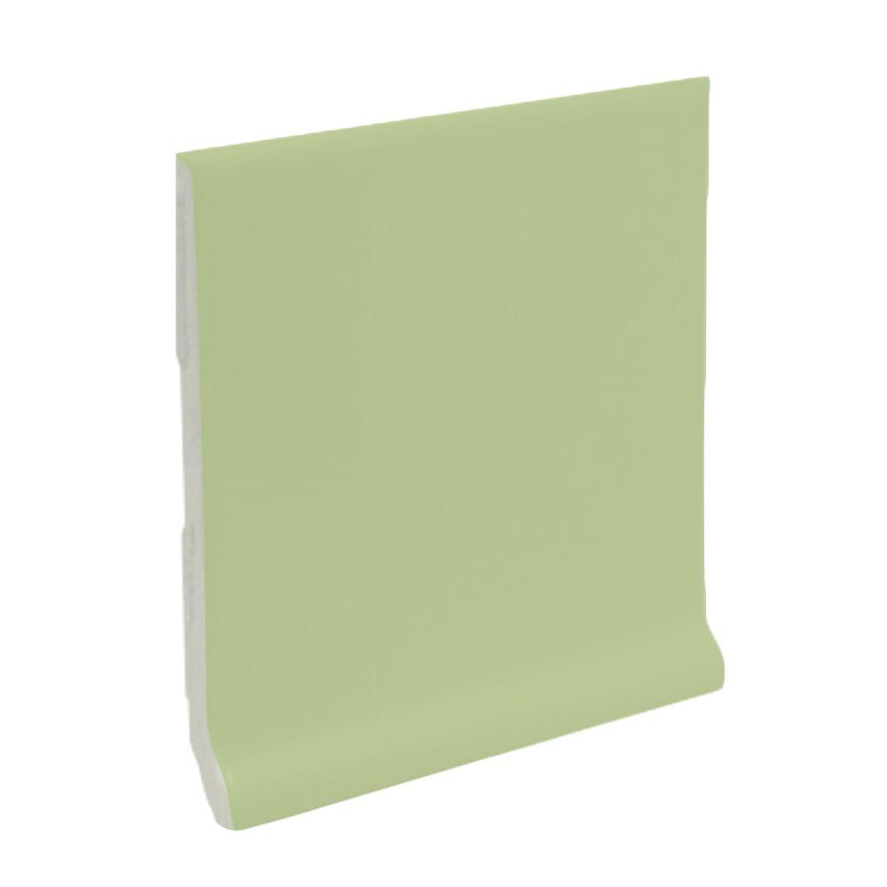 U.S. Ceramic Tile Matte Spring Green 6 in. x 6 in. Ceramic Stackable /Finished Cove Base Wall Tile-DISCONTINUED