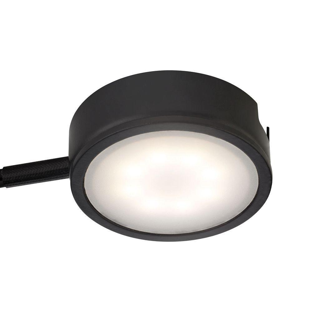 Tuxedo 1-Light LED Black Under Cabinet Light with Power Cord and