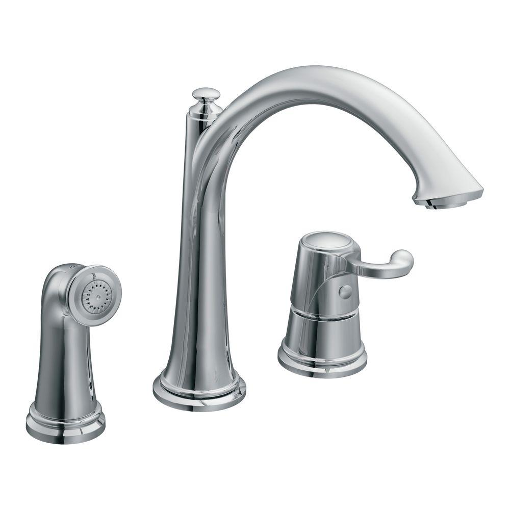 MOEN Savvy One Handle Kitchen Faucet in Chrome