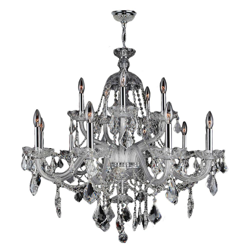 Provence Collection 15-Light Chrome Crystal Chandelier