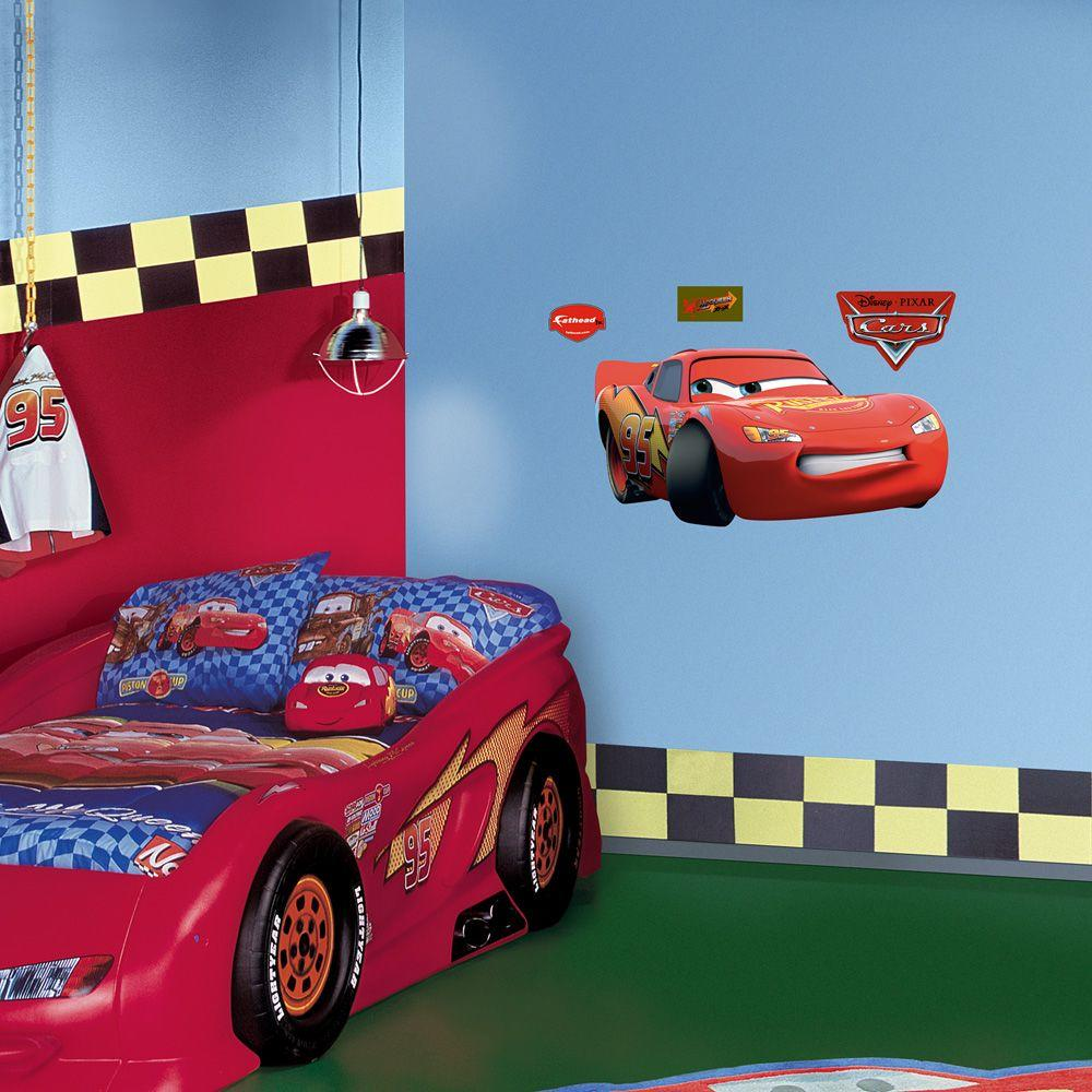Fathead 39 in. x 20 in. Lightning McQueen Wall Decal
