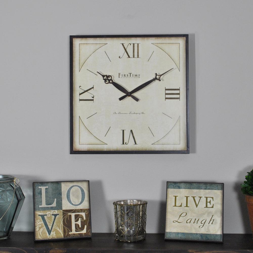 13 in. and 6 in. Love Gallery Plaques and Clock Set