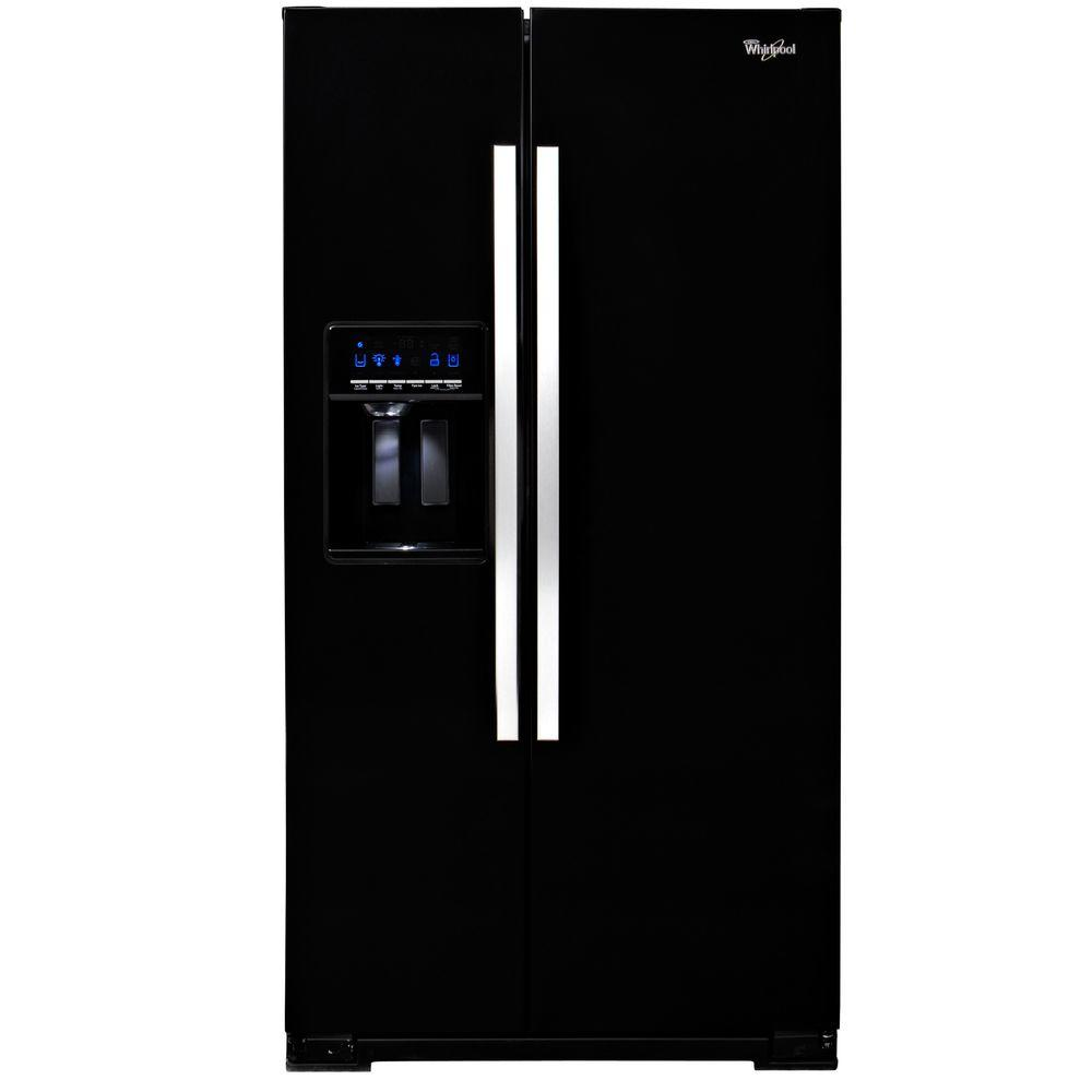 Whirlpool 26.4 cu. ft. Side by Side Refrigerator in Black Ice