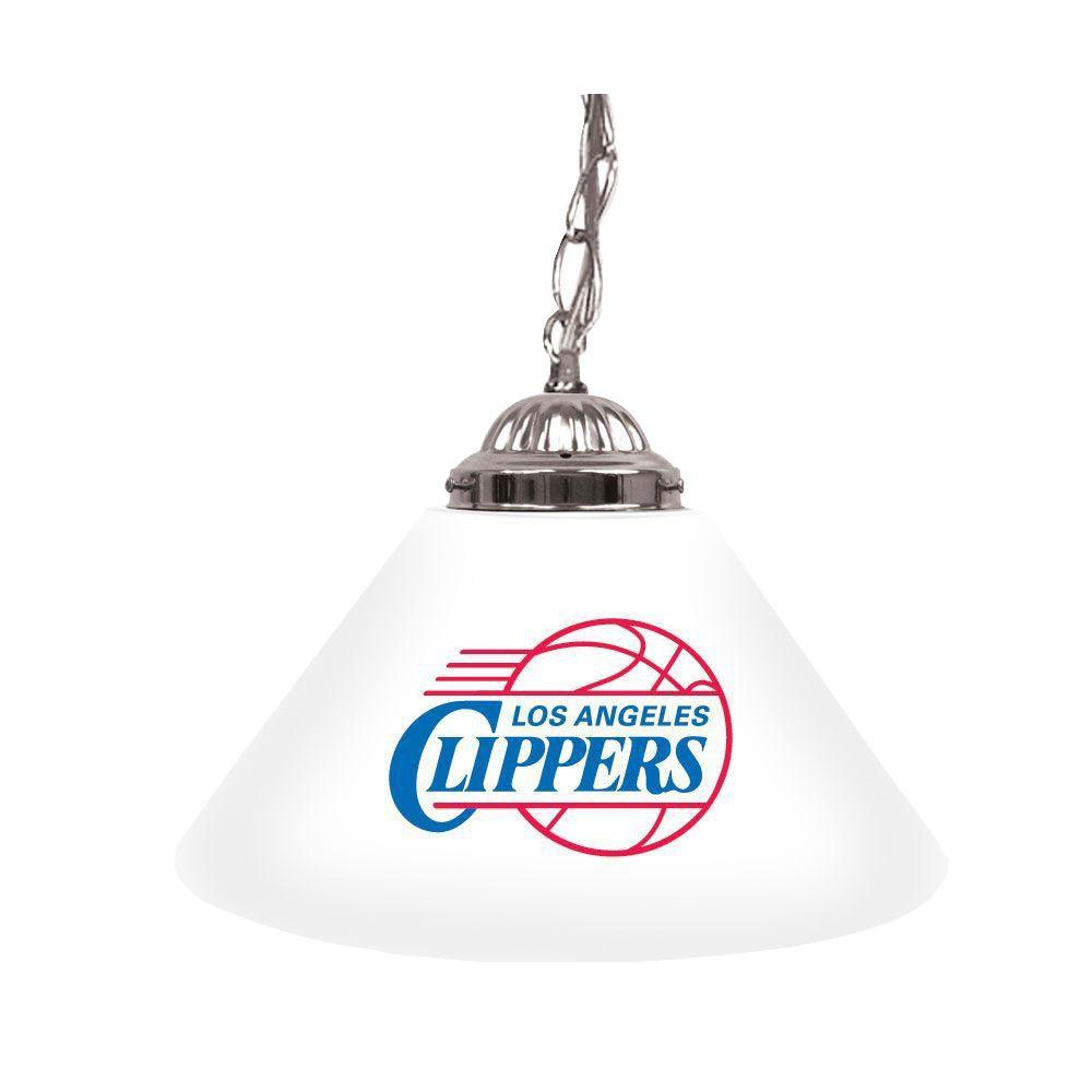 Los Angeles Clippers NBA 14 in. Single Shade Stainless Steel Hanging