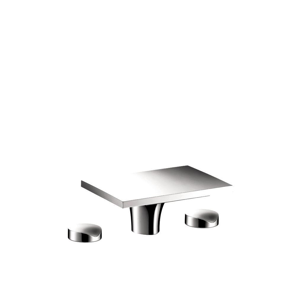 Massaud 8 in. Widespread 2-Handle Low-Arc Bathroom Faucet in Chrome without