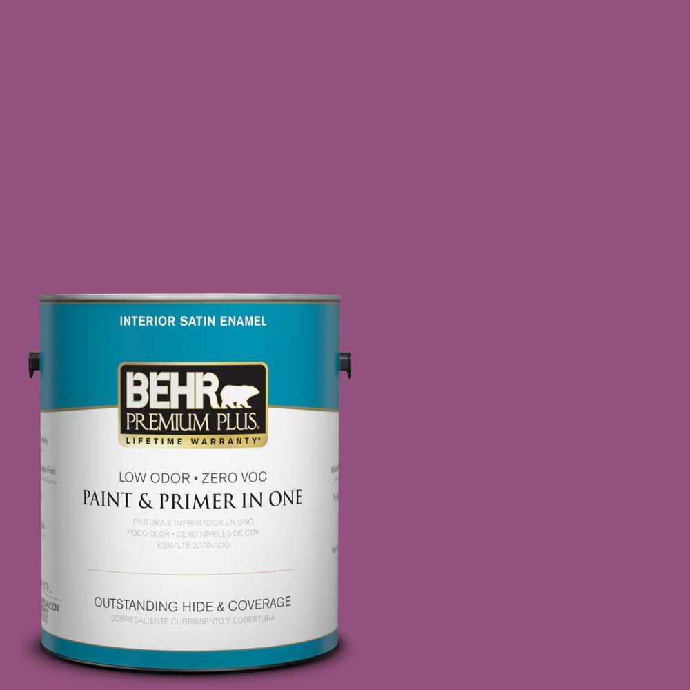 BEHR Premium Plus 1-gal. #P110-7 Xoxo Satin Enamel Interior Paint