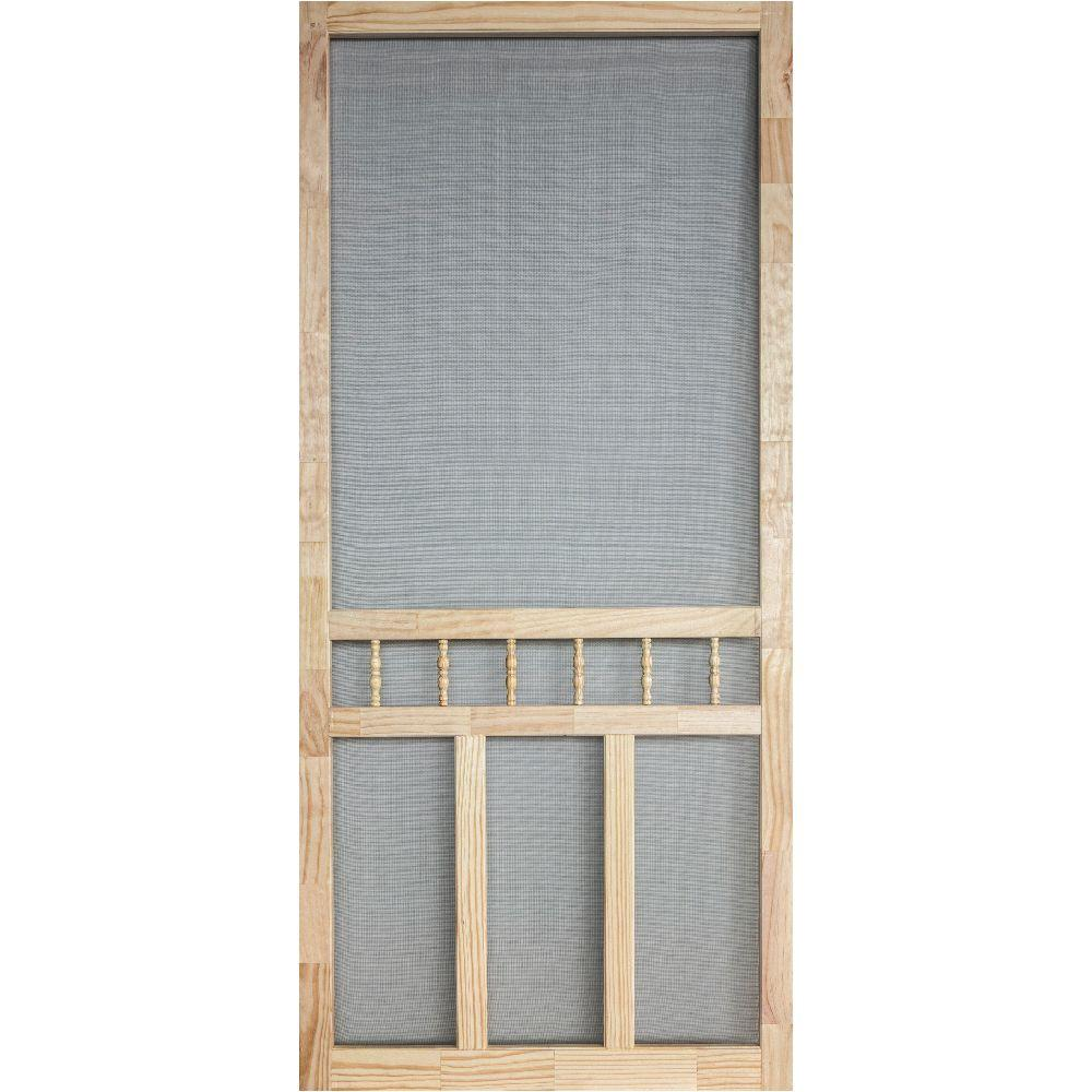 36 in x 80 in wood classic screen door wcla36 the home for Wood doors at home depot