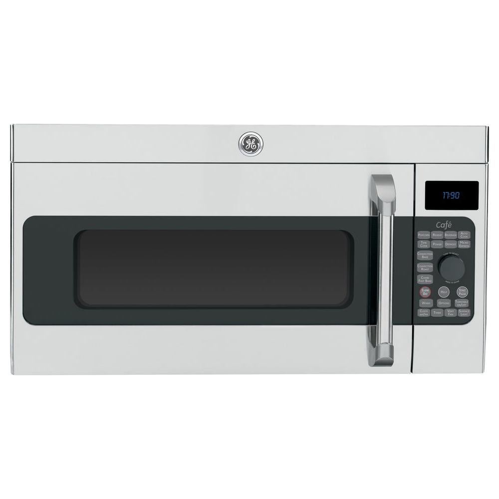 GE Cafe 1.7 cu. ft. Over the Range Convection Microwave in Stainless Steel
