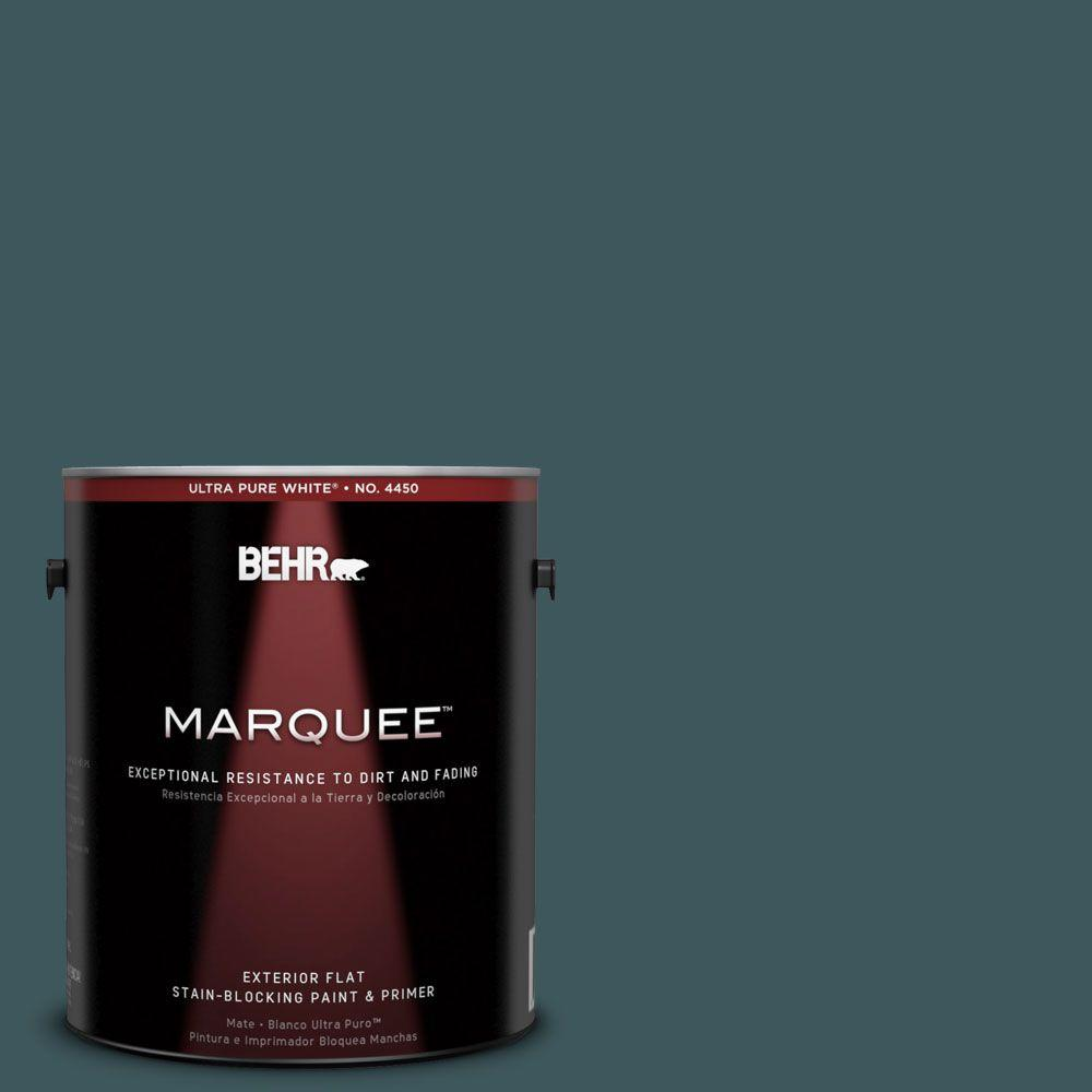 BEHR MARQUEE 1-gal. #510F-7 Teal Forest Flat Exterior Paint-445301 - The
