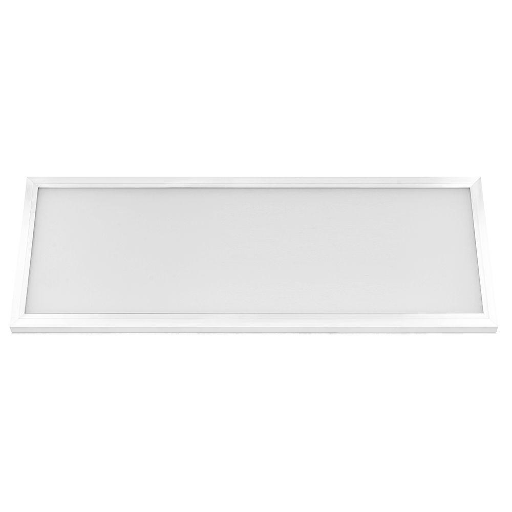 Commercial Electric Ceiling Mounted Lighting 1 ft. x 4 ft. White LED Edge-Lit Flat Panel Flushmount (3-Pack) 74031/HD/3