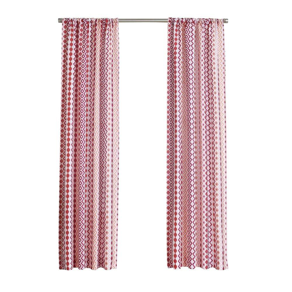 LICHTENBERG Berry No. 918 Millennial Molly Heathered Print Curtain Panel, 40 in. W x 63 in. L