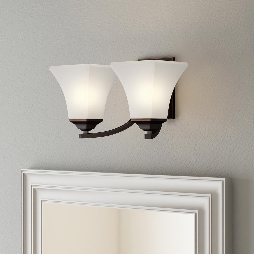 Home Depot Vanity Lights >> Maxim Lighting Aurora Oil-Rubbed Bronze Bath Vanity Light-20099FTOI - The Home Depot