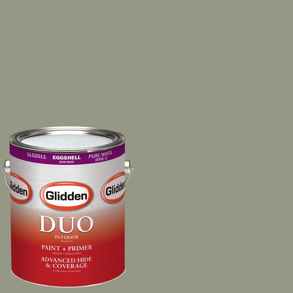 Glidden DUO 1-gal. #HDGCN08 Eucalyptus Tree Eggshell Latex Interior Paint with