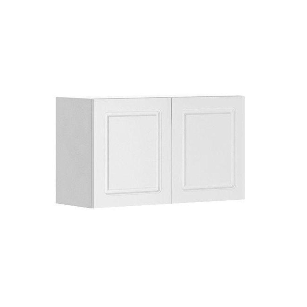Fabritec 30x18x12.5 in. Lausanne Wall Bridge Cabinet in Maple Melamine and Door in White