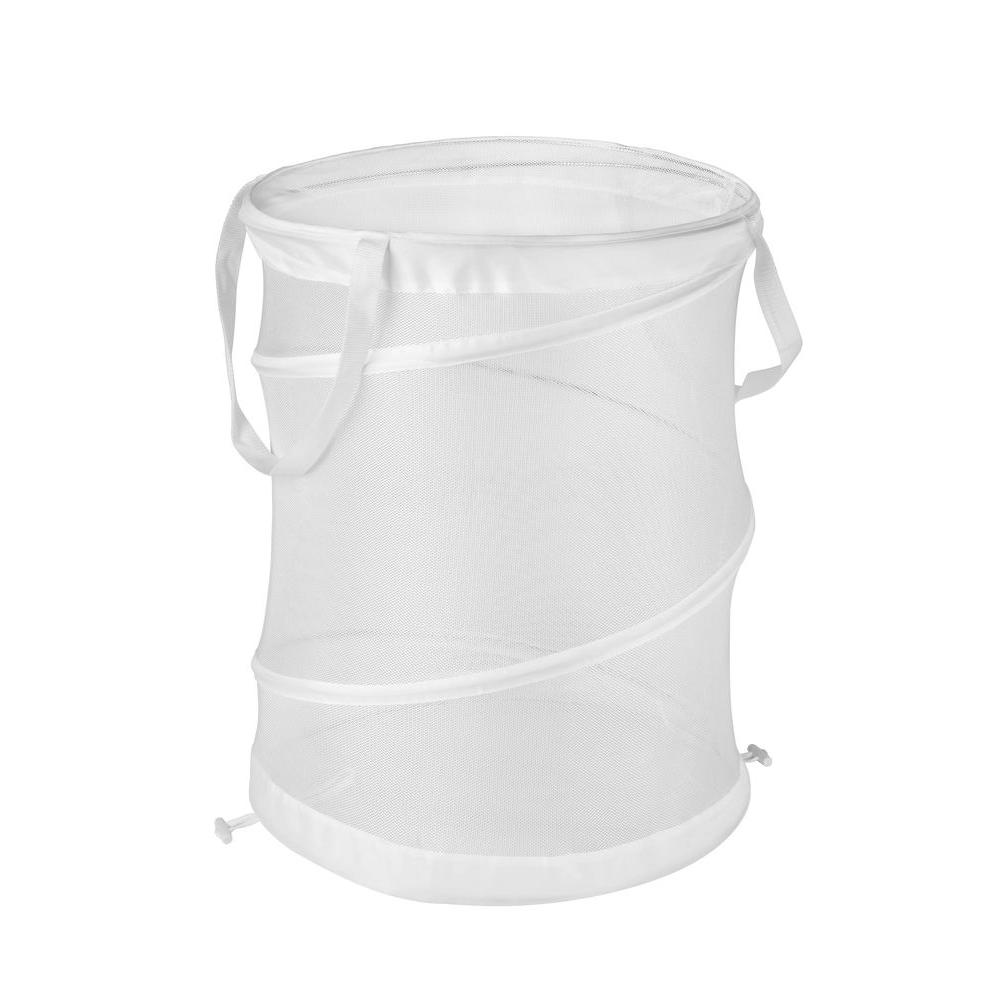 Medium Mesh Pop Open Hamper in White (2-Pack)