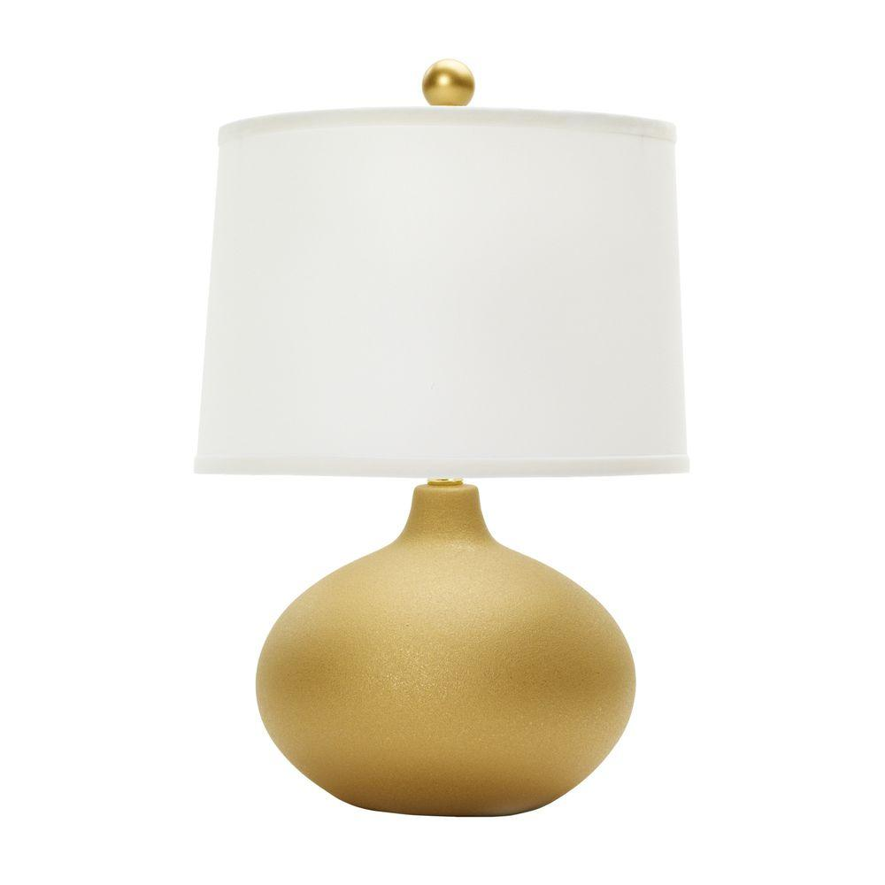 20 in. Textured Gold Ceramic Table Lamp