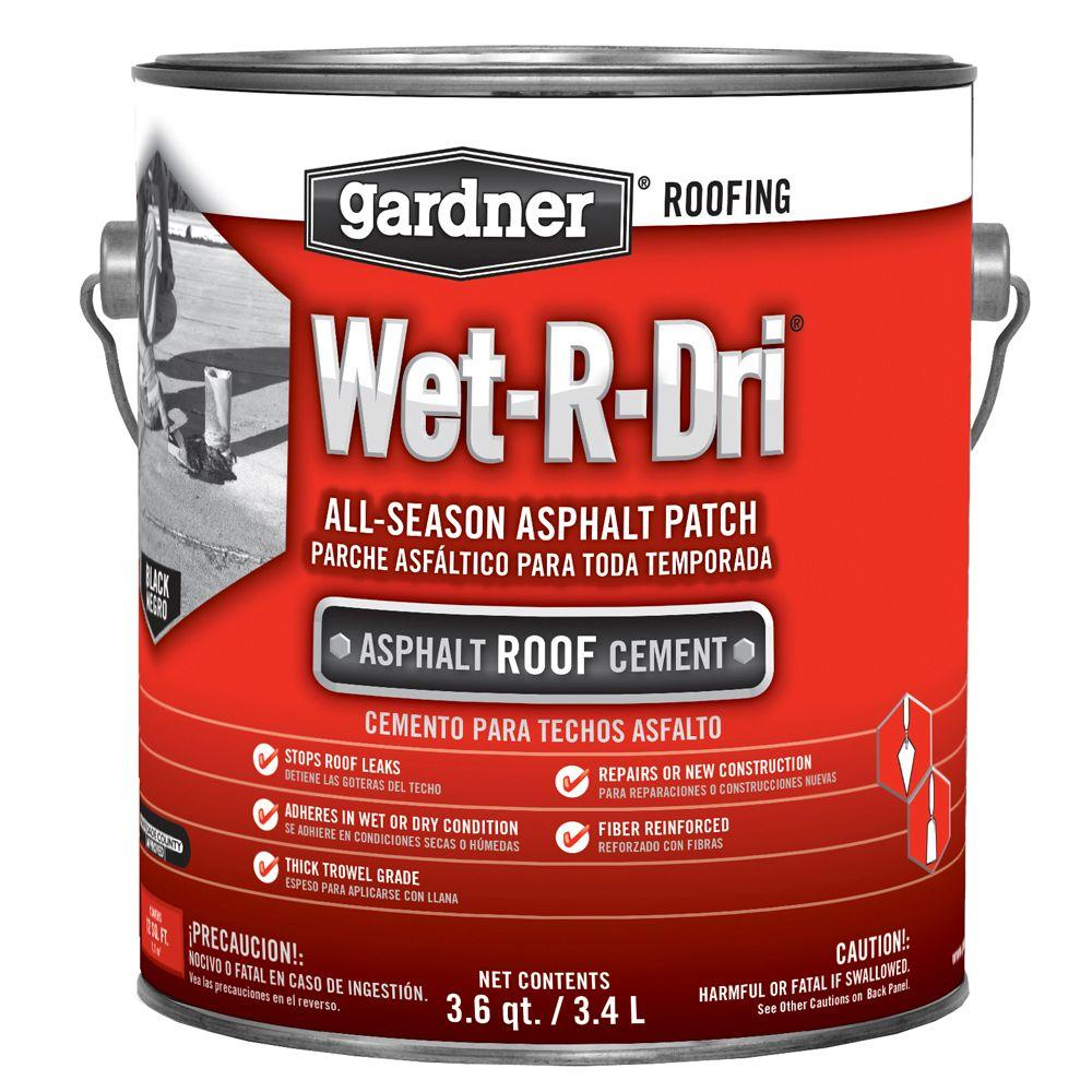 Henry gal 208r rubber wet patch roof cement for Gardner products