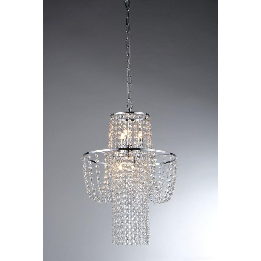Warehouse of Tiffany Charlotte 6-Light Crystal Chrome Chandelier-RL6568 - The