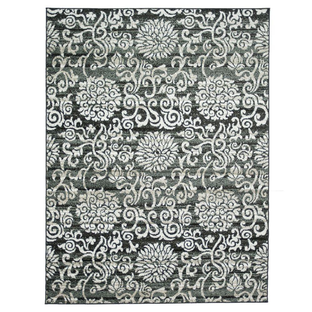 Loloi Rugs Revive Life Style Collection Charcoal Beige 7 ft. 7 in. x 10 ft. 5 in. Area Rug-DISCONTINUED