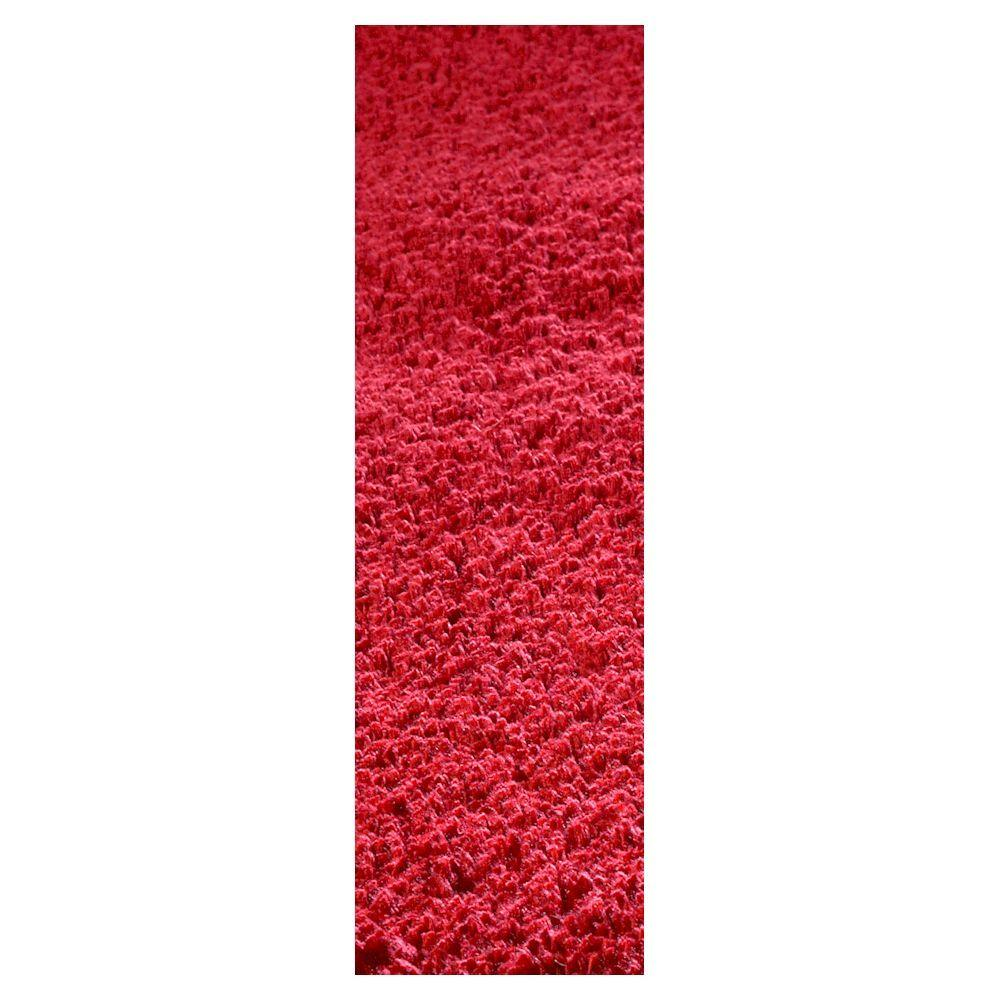 Cozy Shag Red 2 ft. 3 in. x 7 ft. 6