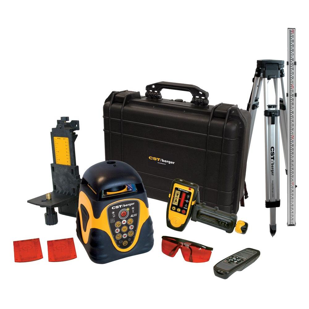 CST/Berger Rotary Laser Level Horizontal or Vertical Kit with Detector, Tripod and Rod (10-Piece)