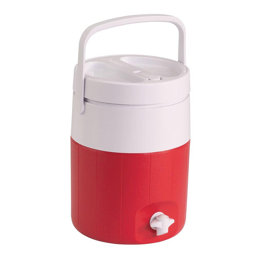 Coleman 2-Gal. Cooler with Faucet, Red-5592C703G - The Home Depot