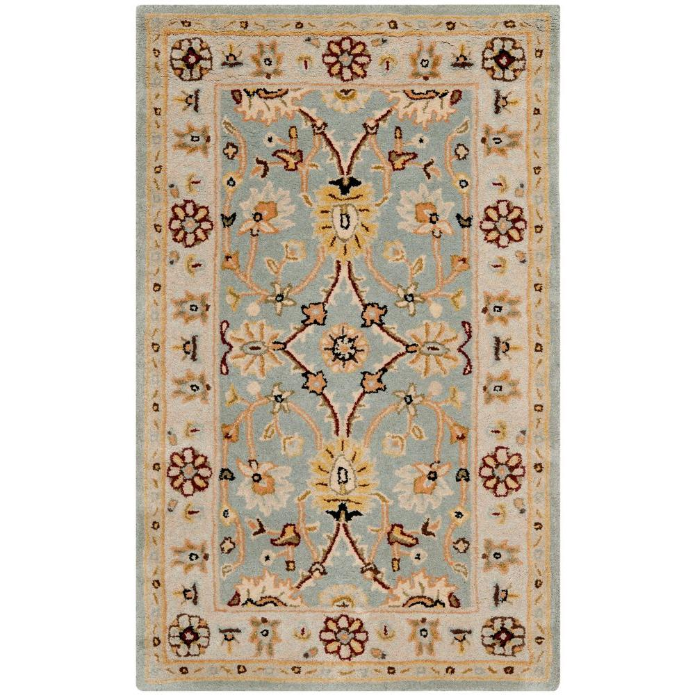 Safavieh Antiquity Light Blue/Ivory 4 ft. x 6 ft. Area Rug-AT249A-4