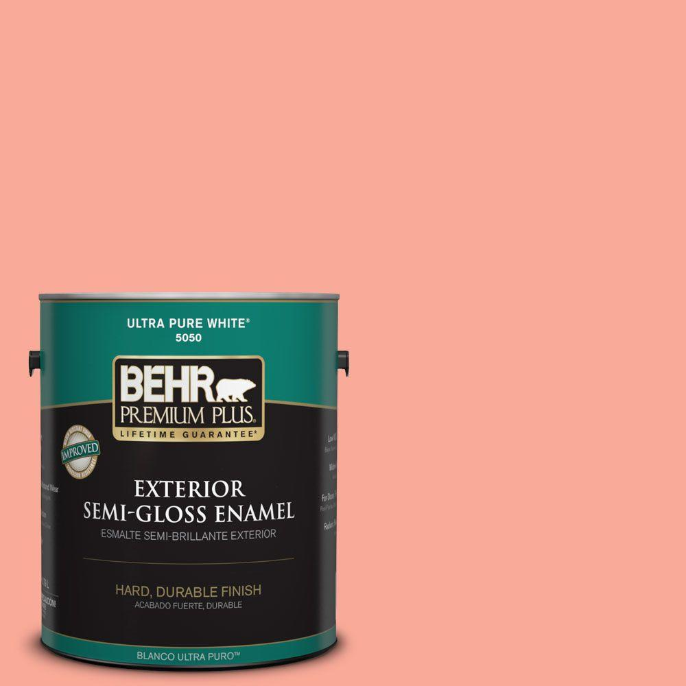 BEHR Premium Plus 1-gal. #190B-4 Duchess Rose Semi-Gloss Enamel Exterior Paint