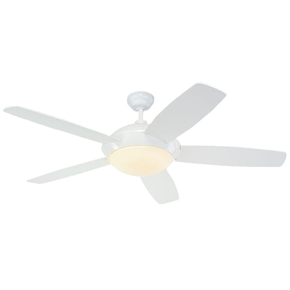 Monte Carlo Sleek 52 in. White Ceiling Fan-5SLR52WHD-B - The Home