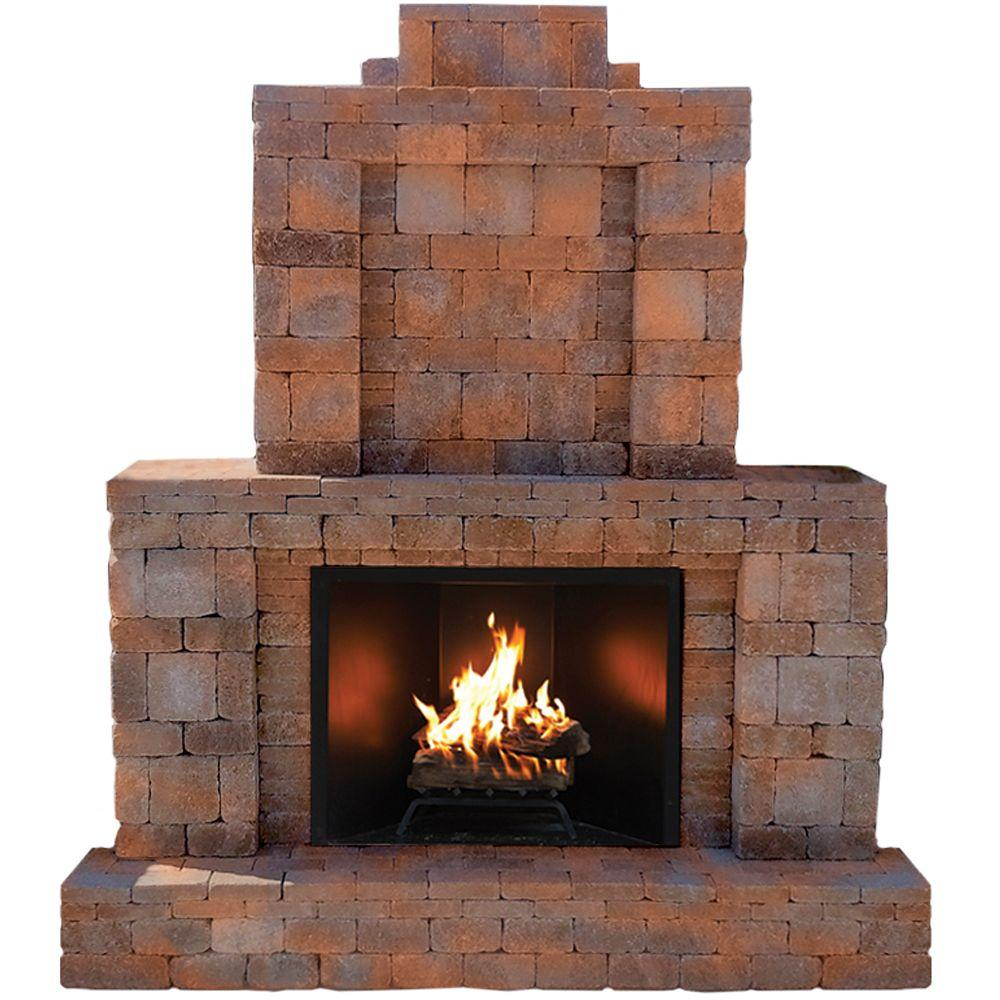 Nice Pavestone RumbleStone 84 In. X 38.5 In. X 94.5 In. Outdoor Stone Fireplace