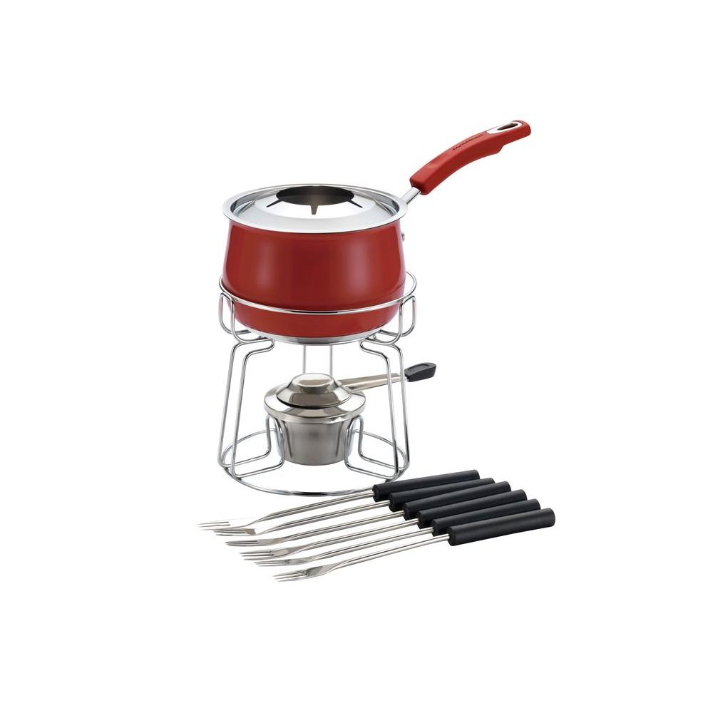 Rachael Ray Stainless Steel II 2 qt. Fondue Set in Red