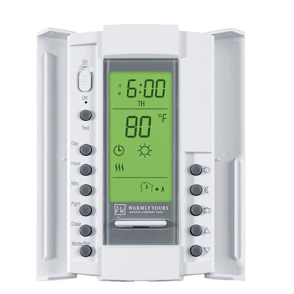 WarmlyYours 240-Volt Smart Stat Thermostat-DISCONTINUED