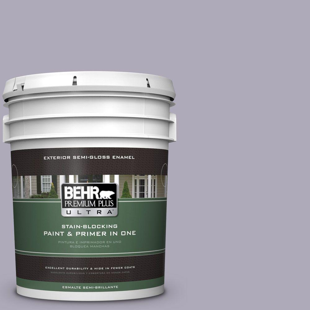 5-gal. #ICC-98 Lilac Bloom Semi-Gloss Enamel Exterior Paint